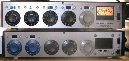 Family Oral History Project - Closeup view of Shure M67 & M367 ...